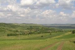 Overzicht van het dal rond het dorp